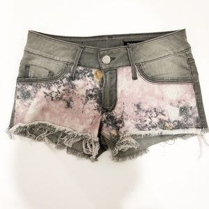 Black Orchid Denim Disco Cut-Off Shorts